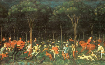 The Hunt in the Forest (also known as The Hunt by Night or simply The Hunt) is a painting by the Italian artist Paolo Uccello, made around 1470.