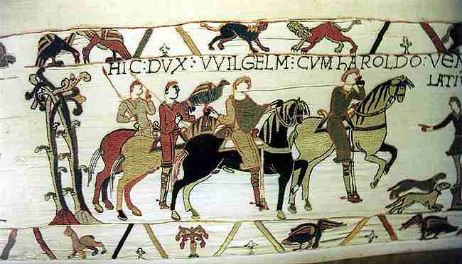 Hunt scene from Bayeaux Tapestry